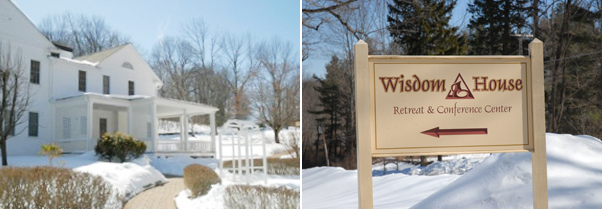Wisdom House in snow
